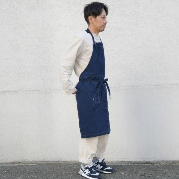 藍染め キャンバス エプロン ワークエプロン コットン 綿 ループエプロン メンズ レディース studio-ichi 05