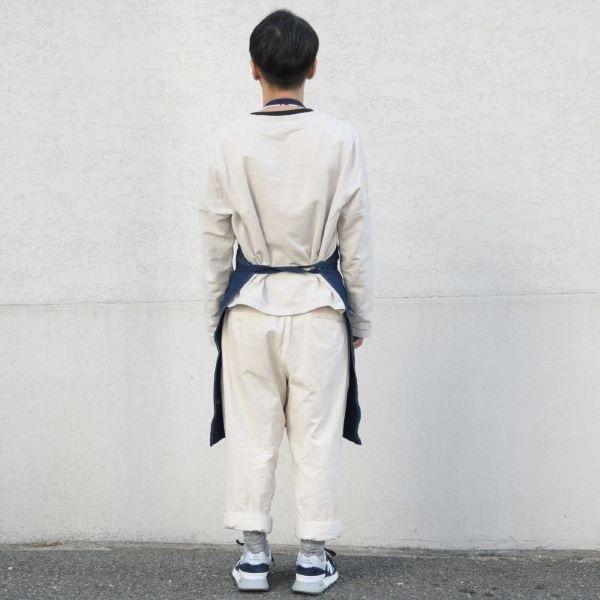 藍染め キャンバス エプロン ワークエプロン コットン 綿 ループエプロン メンズ レディース studio-ichi 06