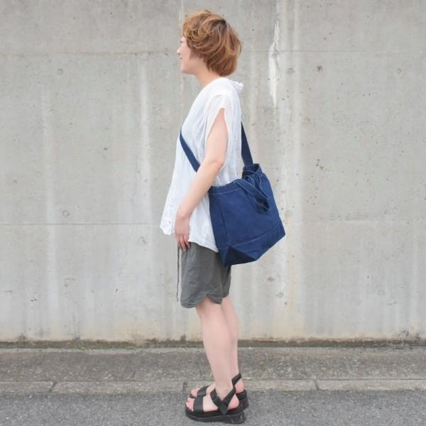 藍染め 2WAYバッグ トートバッグ ショルダーバッグ キャンバス studio-ichi 03