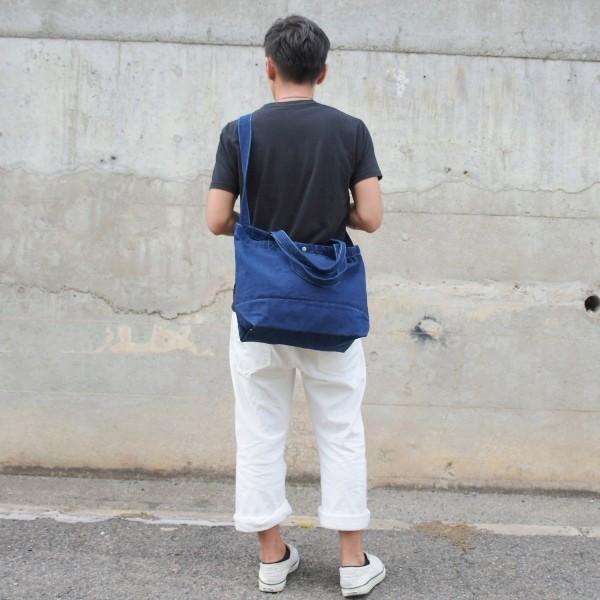 藍染め 2WAYバッグ トートバッグ ショルダーバッグ キャンバス studio-ichi 04