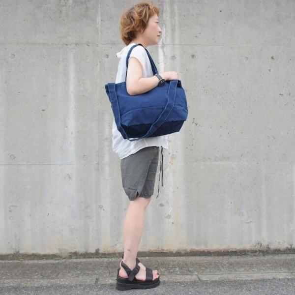 藍染め 2WAYバッグ トートバッグ ショルダーバッグ キャンバス studio-ichi 05