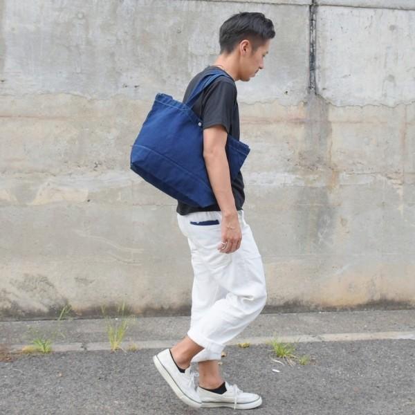 藍染め 2WAYバッグ トートバッグ ショルダーバッグ キャンバス studio-ichi 06