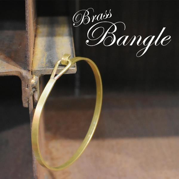 真鍮 生地 バングル ブレスレット