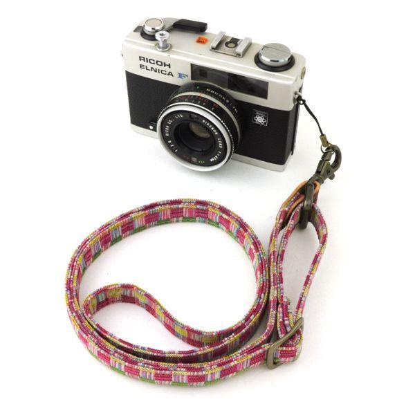 和柄ネックストラップ!12桃織アンティーク着物で製作したレトロなカメラストラップ!