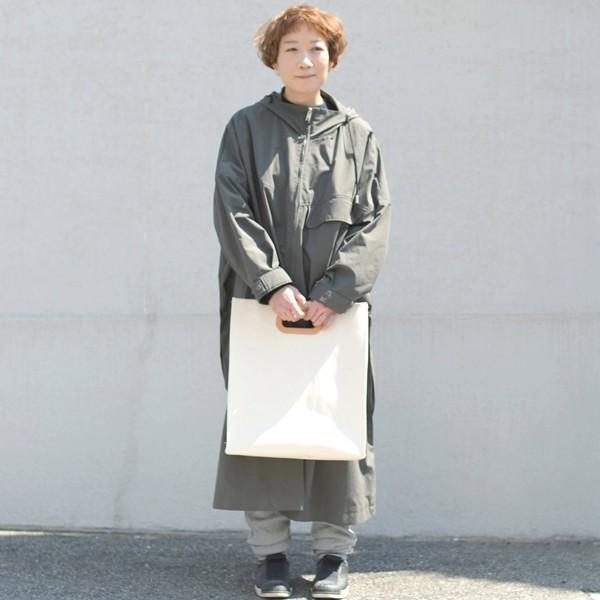 1号帆布 ペーパーバッグ Lサイズ トートバッグ canvas キャンバス 極厚 ヌメ革 シンプル 綿 コットン 名入れ 刻印 studio-ichi 05