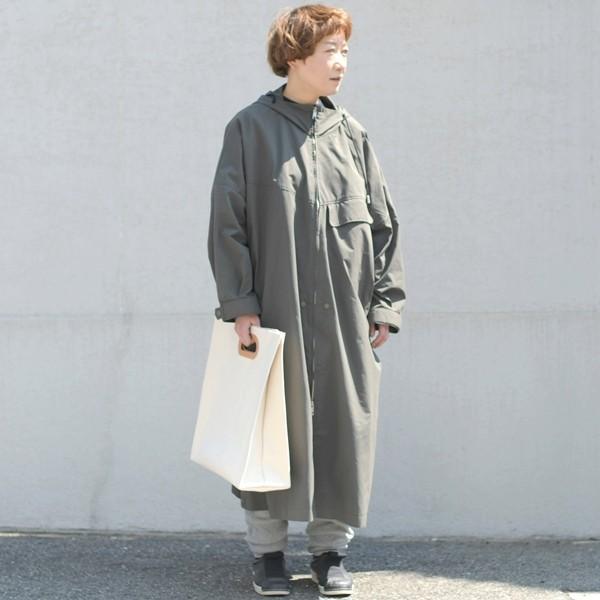 1号帆布 ペーパーバッグ Lサイズ トートバッグ canvas キャンバス 極厚 ヌメ革 シンプル 綿 コットン 名入れ 刻印 studio-ichi 06