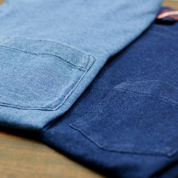 ポケットTシャツ インディゴ 半袖 Tシャツ ポケット付 デニム ウォッシュ メンズ|studio-ichi|04