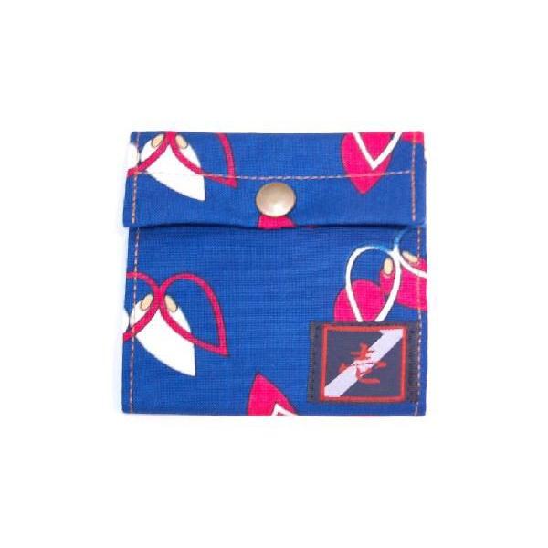 着物カードケース 青レトロ 和柄カードケース