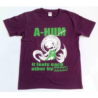SALE 和柄 デザイン 半袖 Tシャツ プリント オリジナル メール便可 阿吽「マッドパープル:胸緑×背赤」|studiojam|03