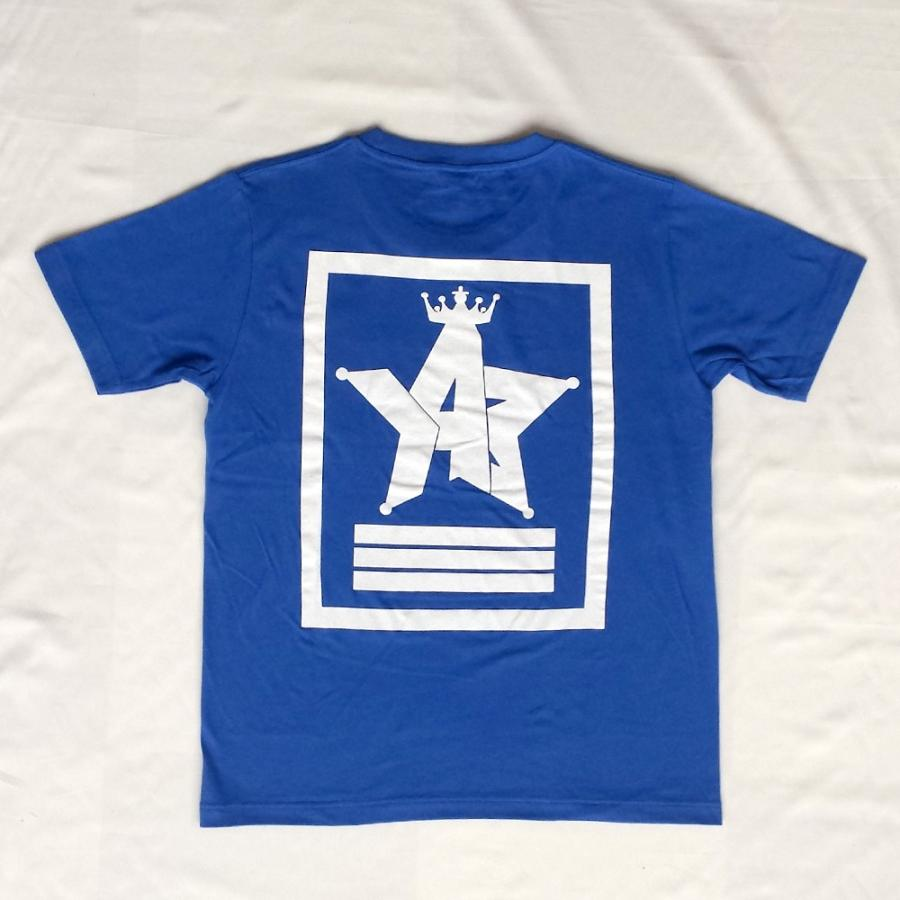Tシャツ ロゴ カットソー 半袖 ブルー M,L デザイン プリント オリジナル メール便可 CROWN STAR「ブルー」|studiojam|03