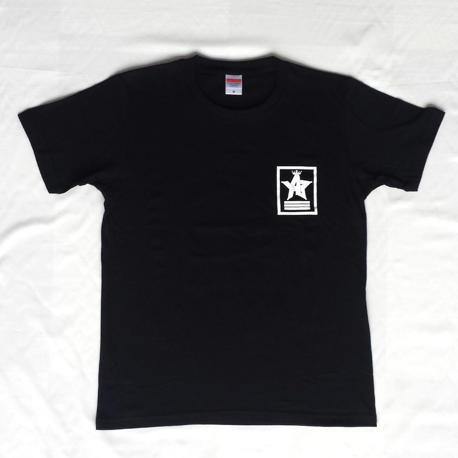 Tシャツ ロゴ カットソー 半袖 ブラック 130〜XXL デザイン プリント オリジナル メール便可 CROWN STAR「ブラック」 studiojam 02