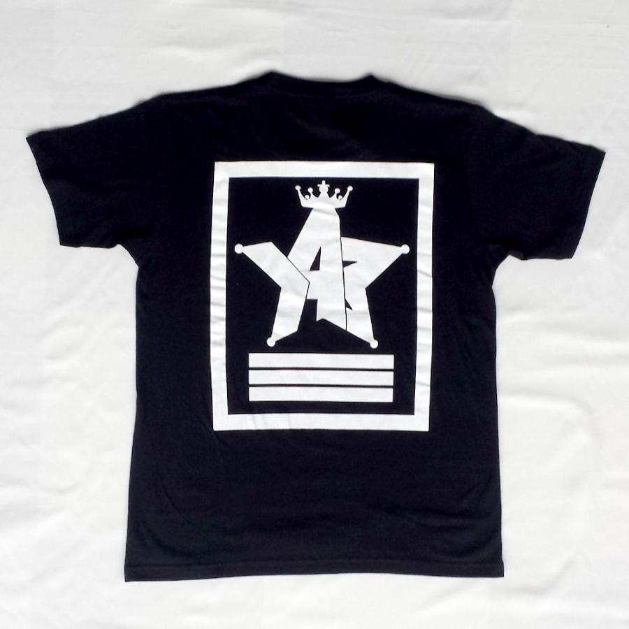 Tシャツ ロゴ カットソー 半袖 ブラック 130〜XXL デザイン プリント オリジナル メール便可 CROWN STAR「ブラック」 studiojam 03