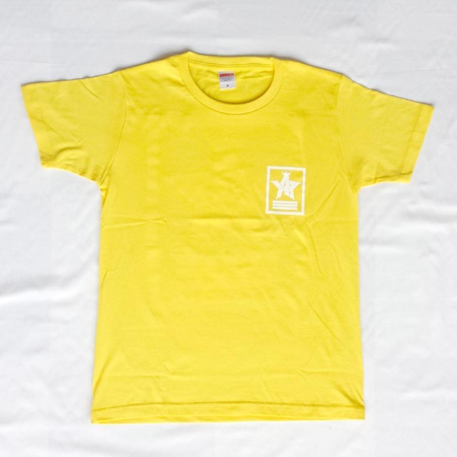 Tシャツ ロゴ カットソー 半袖 イエロー 130〜XXL デザイン プリント オリジナル メール便可 CROWN STAR「イエロー」 studiojam 02