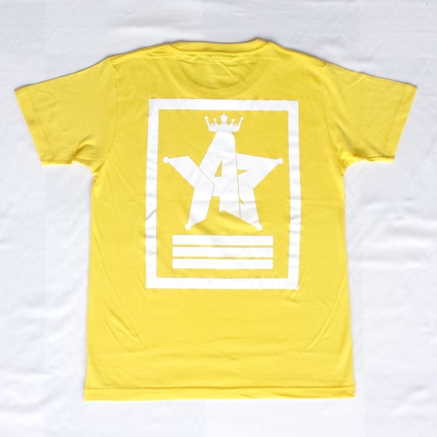 Tシャツ ロゴ カットソー 半袖 イエロー 130〜XXL デザイン プリント オリジナル メール便可 CROWN STAR「イエロー」 studiojam 03