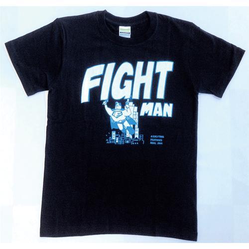 SALE 半袖 Tシャツ デザイン プリント オリジナル メール便可 FIGHT MAN「ブラック」|studiojam|02
