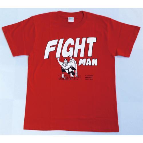 SALE 半袖 Tシャツ デザイン プリント オリジナル メール便可 FIGHT MAN「赤」|studiojam|02