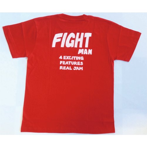 SALE 半袖 Tシャツ デザイン プリント オリジナル メール便可 FIGHT MAN「赤」|studiojam|03