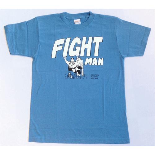 SALE 半袖 Tシャツ デザイン プリント オリジナル メール便可 FIGHT MAN「ストーンブルー」|studiojam|02