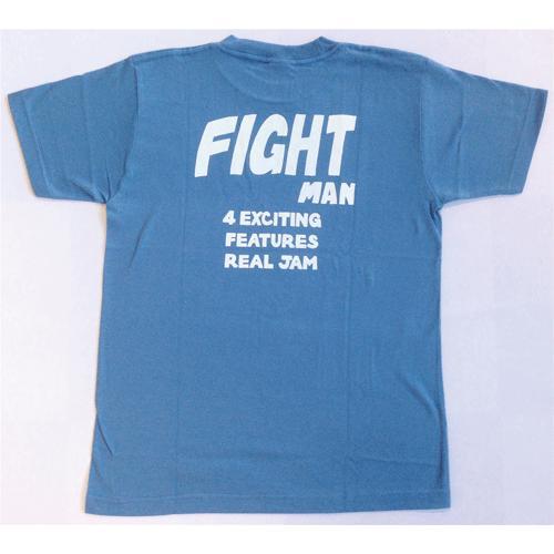 SALE 半袖 Tシャツ デザイン プリント オリジナル メール便可 FIGHT MAN「ストーンブルー」|studiojam|03