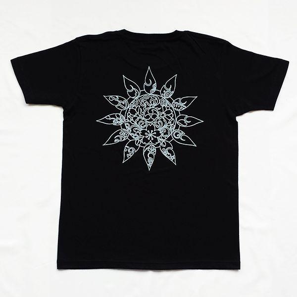 和柄 デザイン 半袖 Tシャツ プリント オリジナル メール便可 雲の向こうはいつも青空「ブラック」|studiojam|02