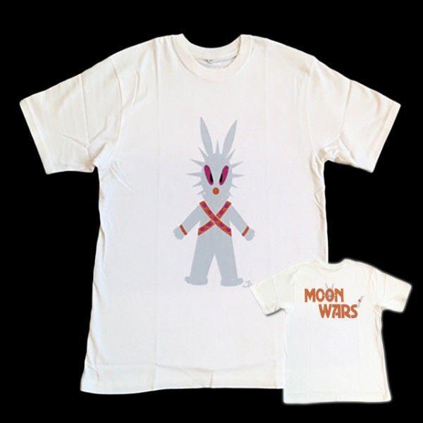 半袖 Tシャツ デザイン プリント オリジナル メール便可 MOON WARS「ホワイト」 studiojam