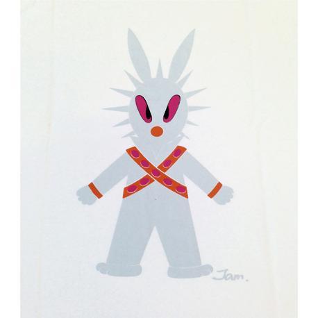 半袖 Tシャツ デザイン プリント オリジナル メール便可 MOON WARS「ホワイト」 studiojam 03