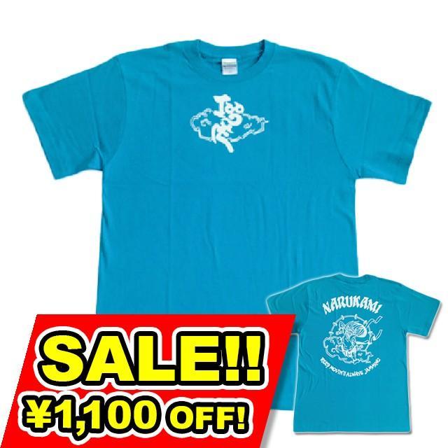 SALE 和柄 デザイン 半袖 Tシャツ プリント オリジナル メール便可 鳴神「ターコイズ」SALE|studiojam