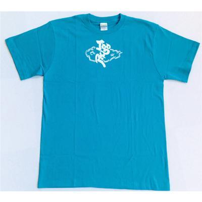 SALE 和柄 デザイン 半袖 Tシャツ プリント オリジナル メール便可 鳴神「ターコイズ」SALE|studiojam|02