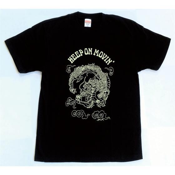 SALE 和柄 デザイン 半袖 Tシャツ プリント オリジナル メール便可 龍「ブラック」 studiojam 02