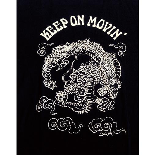 SALE 和柄 デザイン 半袖 Tシャツ プリント オリジナル メール便可 龍「ブラック」 studiojam 03