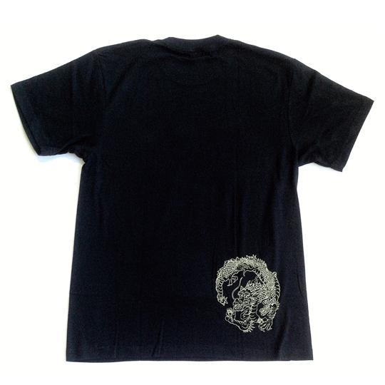 SALE 和柄 デザイン 半袖 Tシャツ プリント オリジナル メール便可 龍「ブラック」 studiojam 04