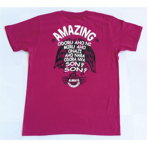 SALE 和柄 デザイン 半袖 Tシャツ プリント オリジナル メール便可 八咫烏「アーガイルパープル」 studiojam 03