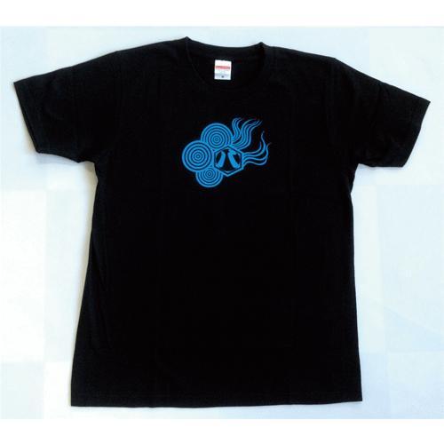 SALE 和柄 デザイン 半袖 Tシャツ プリント オリジナル メール便可 八咫烏「ブラック:青」|studiojam|02