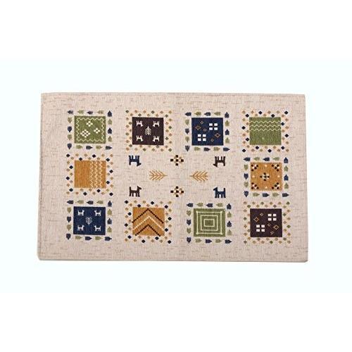 イケヒコ 玄関マット ギャベル アイボリー 約50×80cm ギャベ柄 洗える マット #2034330|stylecolorstore