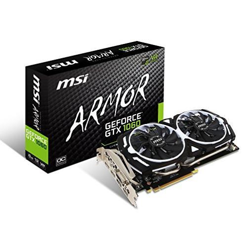 MSI ARMOR 2X デュアルファン搭載 GeForce GTX 1060 グラフィックスカード 6GB版 GeForce GTX 1060 AR