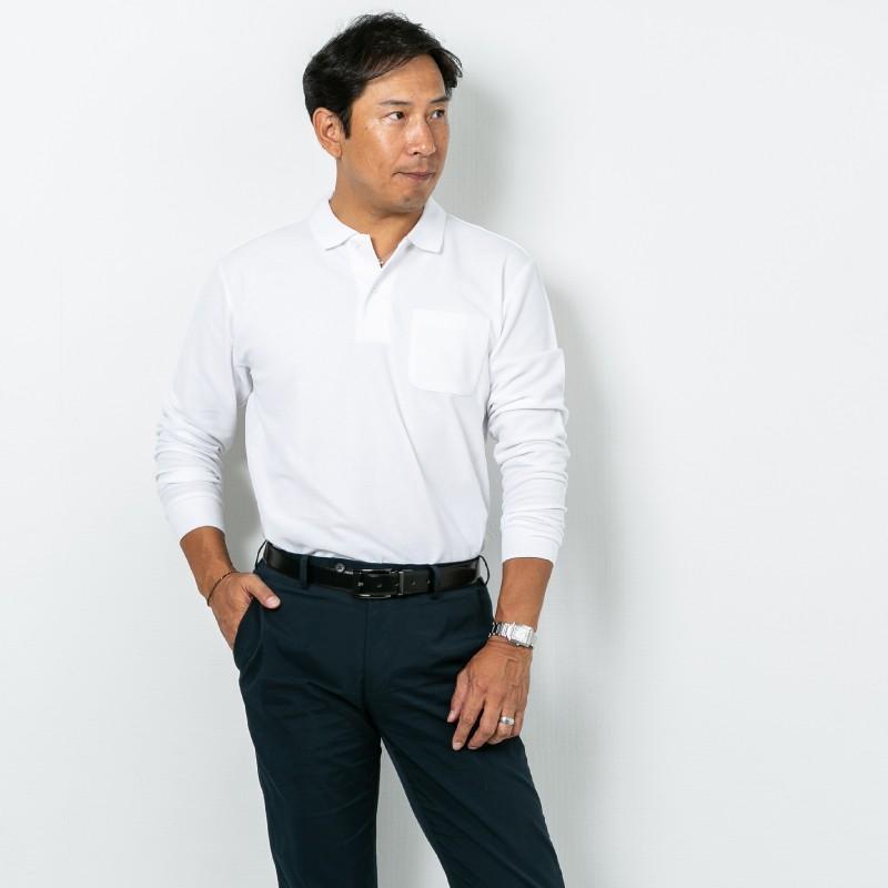 ポロシャツ レディース (ユニセックス) 長袖 かわいい 大きいサイズ おしゃれ スポーツ ゴルフ ポケット 黒 白 無地 ユニフォーム|styleequal|11