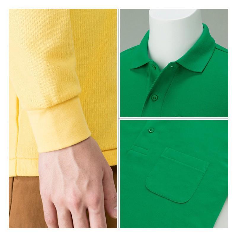 ポロシャツ レディース (ユニセックス) 長袖 かわいい 大きいサイズ おしゃれ スポーツ ゴルフ ポケット 黒 白 無地 ユニフォーム|styleequal|17