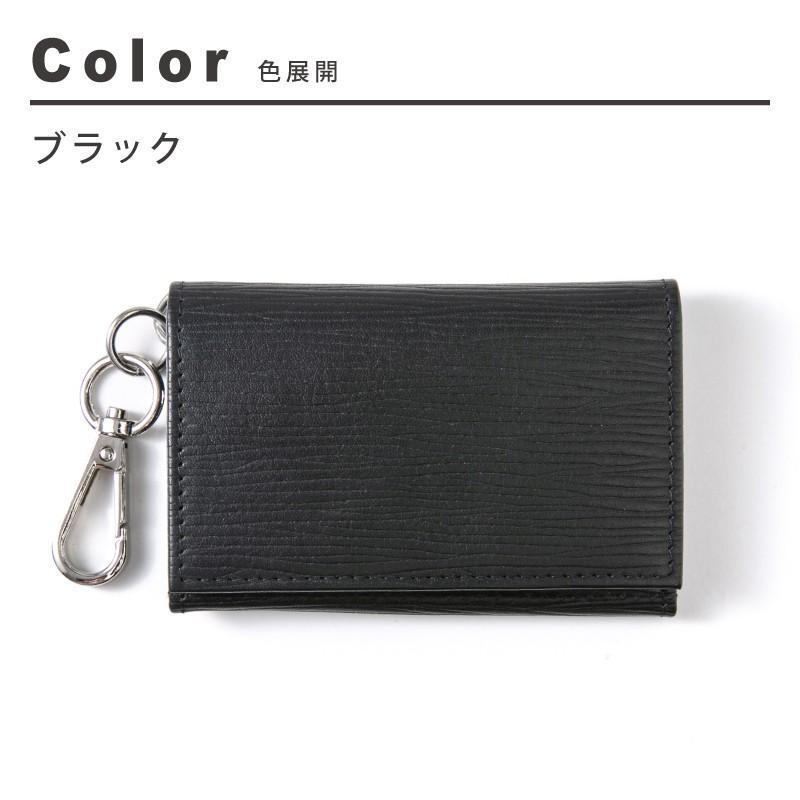 キーケース メンズ レディース 革 かわいい 小銭入れ 名入れ カードケース 三つ折り シボ コインケース 財布 ジップ フック おしゃれ|styleequal|11