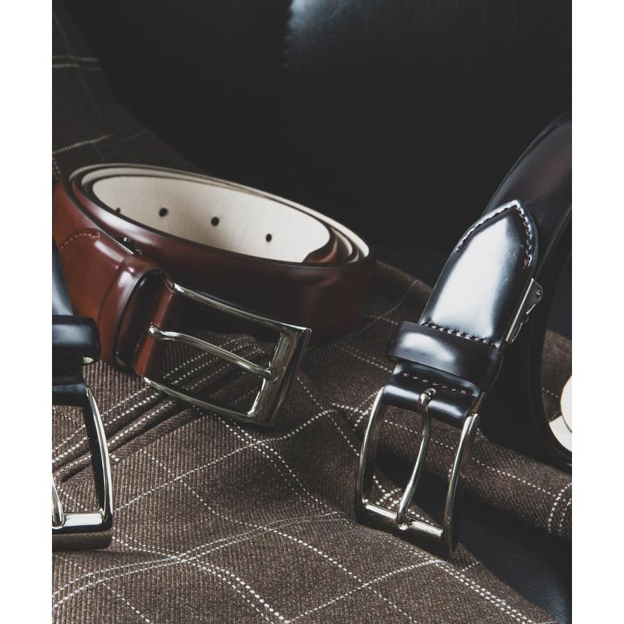 メンズ ベルト イタリア リナルディ社製アドバンレザ  日本製 ビジネスベルト 送料無料 ダークネイビー バーガンディ ライトブラウン ブラック 長沢ベルト|styleequal|08