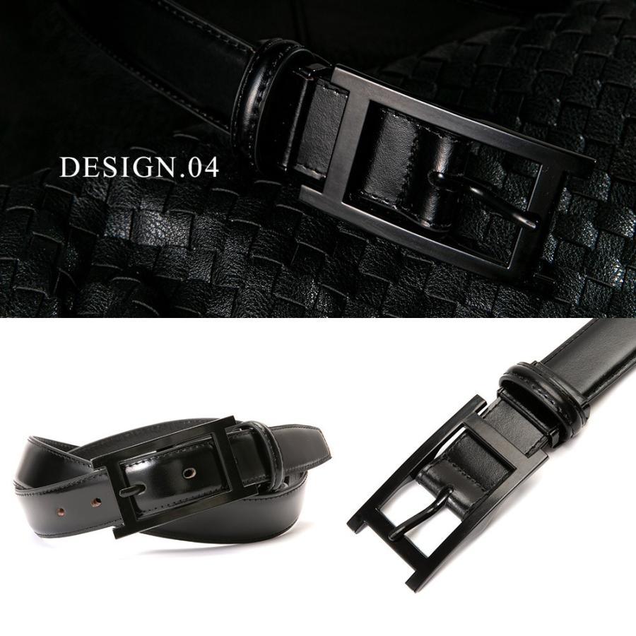 ベルト メンズ 革 レザー 黒にこだわった 糸 バックル 全て黒 ビジネス スーツ 革ベルト 紳士 父の日 ギフト styleequal 11