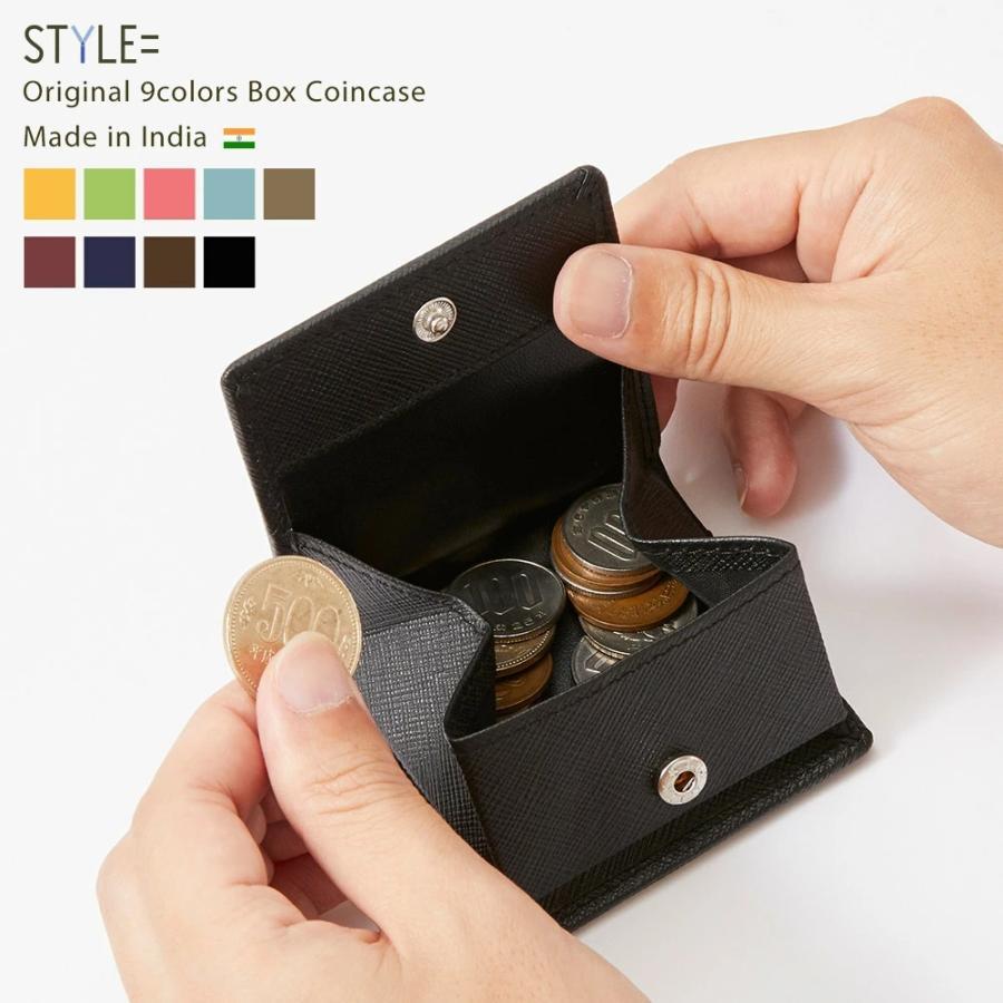 小銭入れ コインケース メンズ レディース 革 かわいい おしゃれ 小さい コンパクト 出しやすい スナップボタン styleequal