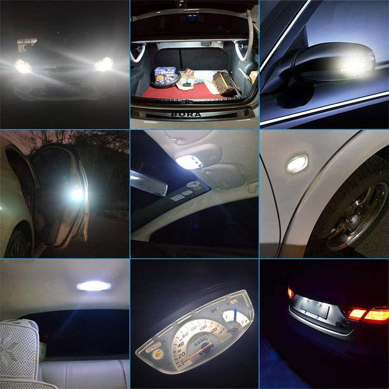 T10 led 3014LEDチップ30連SMD 爆光 キャンセラー内蔵 12-24V 360°全方位発光 ポジションランプ 車検対応 車 ナンバー灯ルームランプ ホワイト 2個セット stylejapan 07