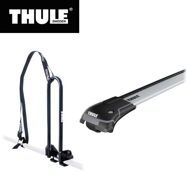 THULE(スーリー) フォレスター用ベースキャリア(ウイングバーエッジ9582)+カヤックキャリア ルーフレール付き H30/7· SK#