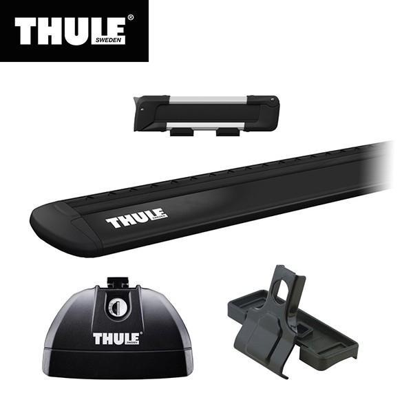 THULE(スーリー) BMW 1シリーズ専用ベースキャリア(フット753+ウイングバー EVO7112B+キット3028)+スキーキャリア スノーパック7322 F20 5ドア 2011·2019