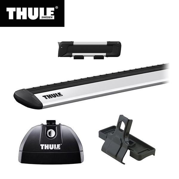 THULE(スーリー) AUDI Q7専用ベースキャリア(フット753+ウイングバー EVO7113+キット3145)+スキーキャリア スノーパック7322 2016·