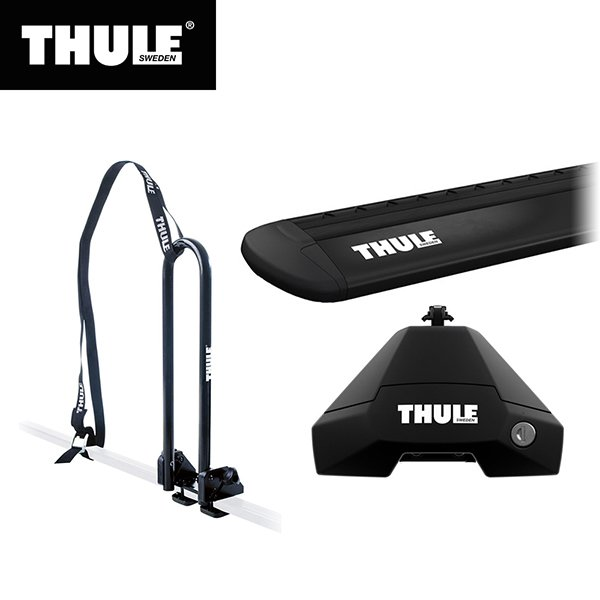 THULE(スーリー) アクセラスポーツ専用ベースキャリア(フット7105+ウイングバー EVO7114B+キット5002)+カヤックキャリア 5ドア H25/11· BM#