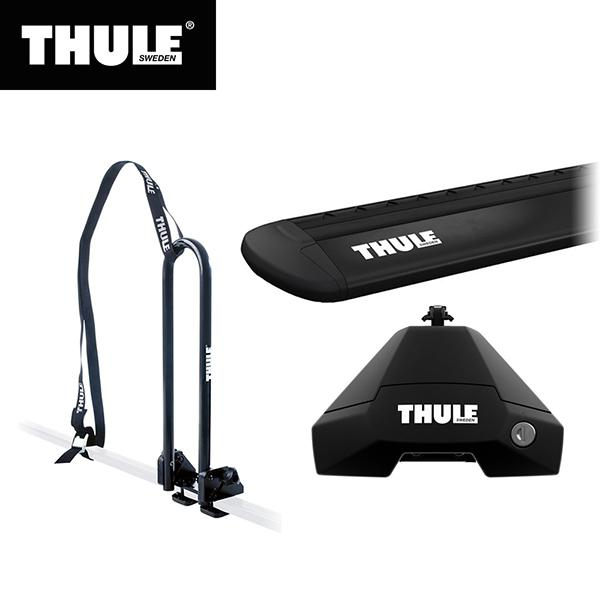 THULE(スーリー) CX-5専用ベースキャリア(フット7105+ウイングバー EVO7114B+キット5079)+カヤックキャリア ルーフレールなし H29/2· KF#