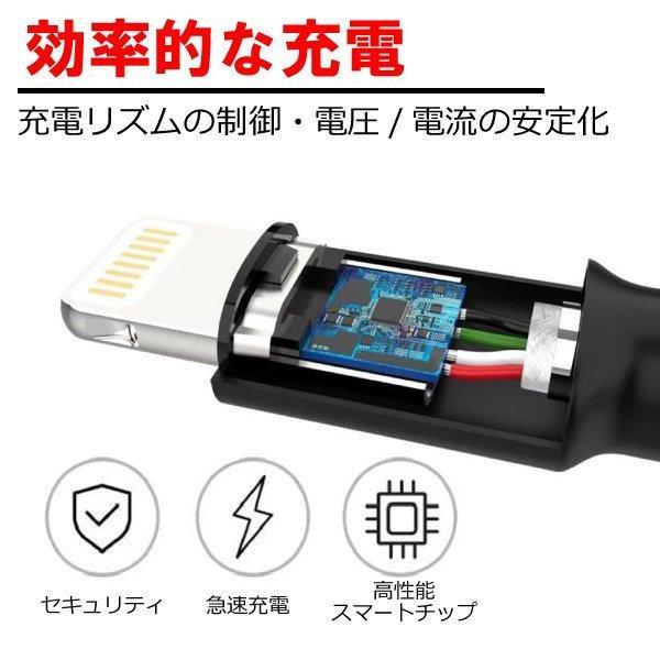 365日保証 iPhone 充電ケーブル iPhone iPad iPod ライトニングケーブル 100cm 丈夫 急速充電 stylemartnet 09