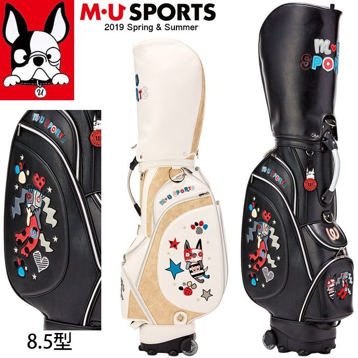 2019年 春夏 新作 M・U SPORTS MUスポーツ ゴルフバッグ レディース ローリングソール キャディバッグ 8.5型 MU19SS 0206