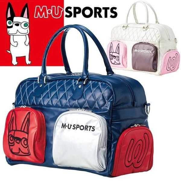 M・U SPORTS MUスポーツ ゴルフ ボストンバッグ シューズインポケット付 2018年春夏新作 NEW MU18SS 0221